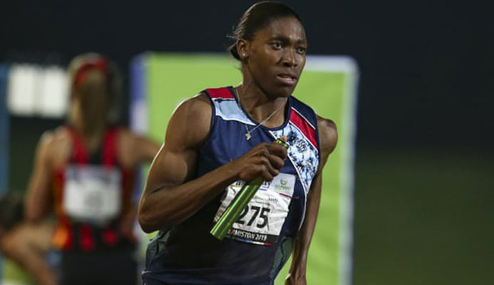 'The IAAF's approach has plunged the sport into a quandary.' Caster Semenya at an athletics meet in Johannesburg, April 2019. Photograph: Roger Sedres/AP