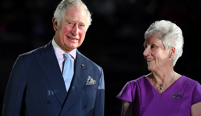 In this April 4,2018 file photo, Britain's Prince Charles (L) and Commonwealth Games Federation President Louise Martin attend the opening ceremony of the 2018 Gold Coast Commonwealth Games at the Carrara Stadium on the Gold Coast. In an interview with Newsday yesterday, Martin said women's T20 cricket will be part of the 2022 Games, in Birmingham,England. AFP PHOTO