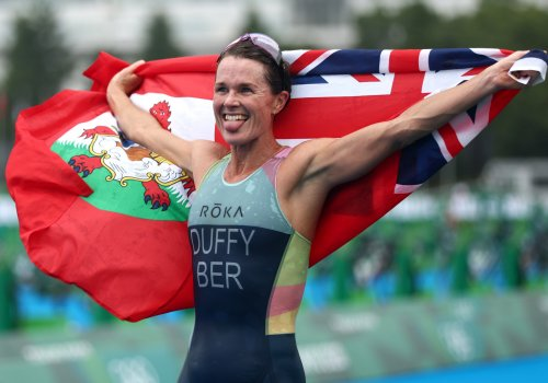 Duffy wins Bermuda's first Olympic gold medal with dominant display in women's triathlon